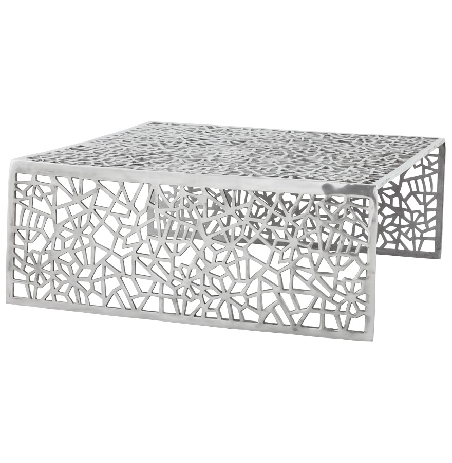 Table basse en aluminium, production artisanale.