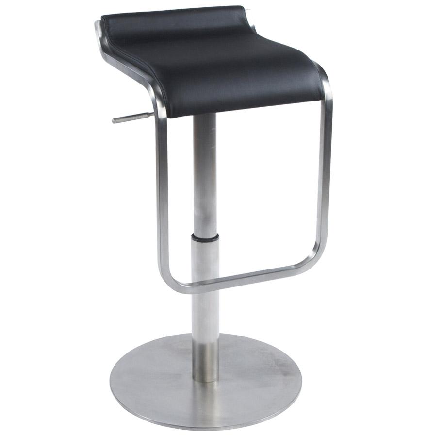 Tabouret réglable en hauteur, assise confortable.