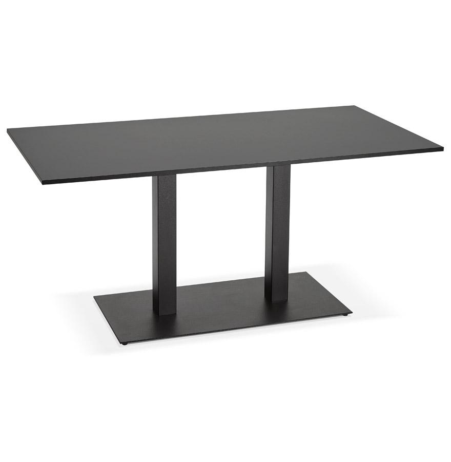 Table / bureau design ´AUSTIN´ noir - 160x80 cm