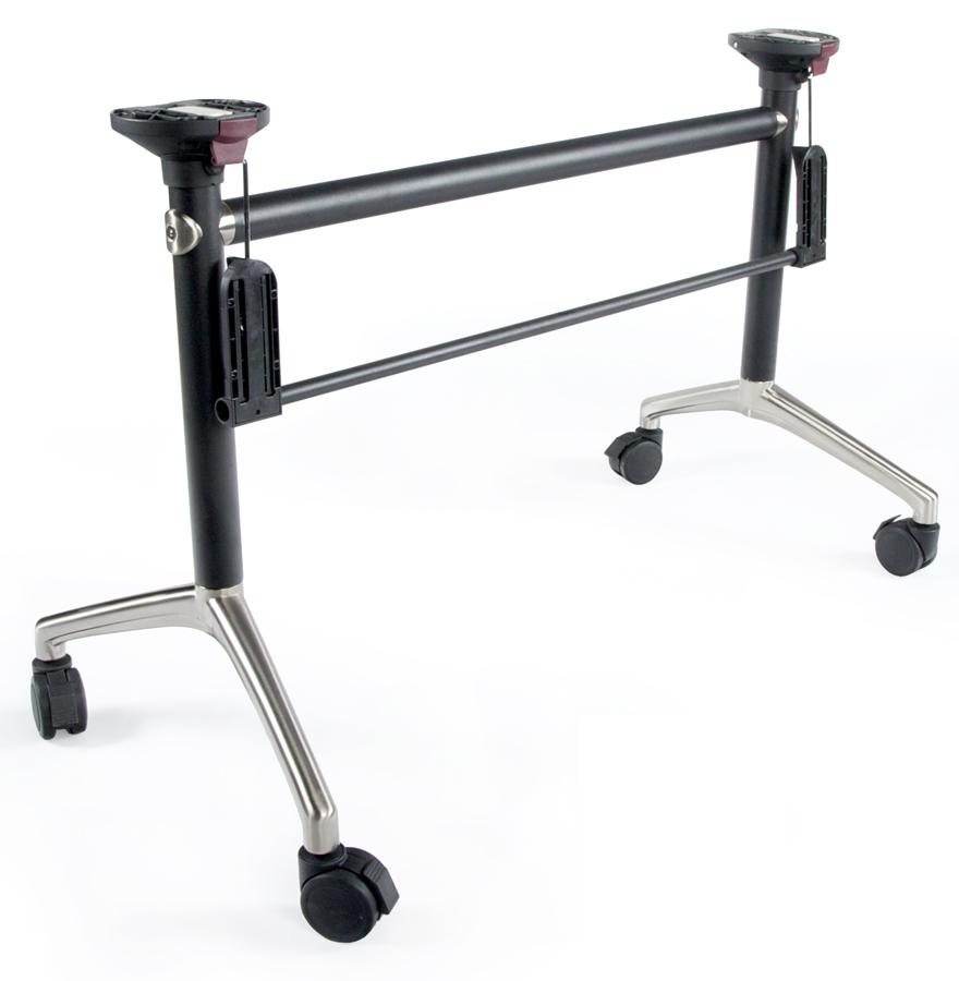 Pied de table flexo base avec structure inclinable just - Charniere de pied rabattable ...