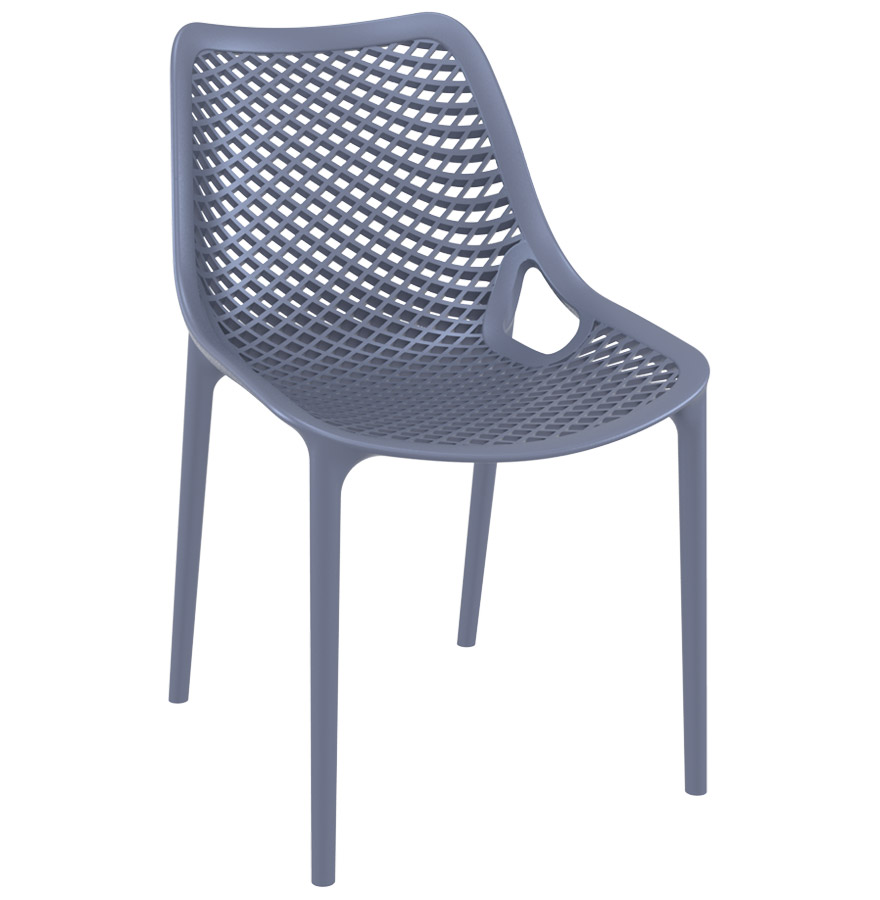 Chaise moderne en polypropylène, utilisable à l'extérieur.
