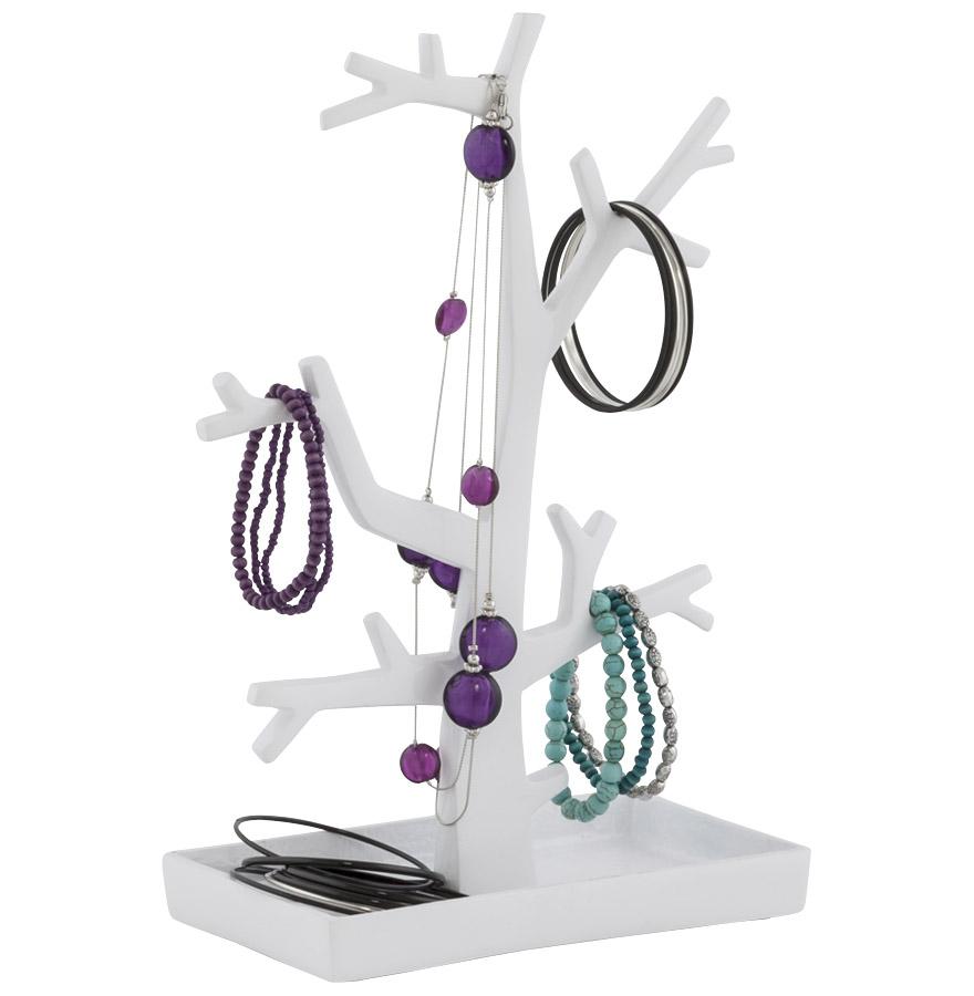 Arbre à bijoux en aluminium, production artisanale.