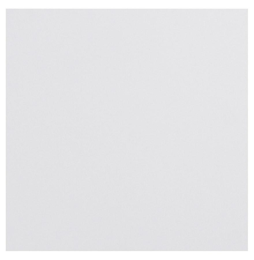 Plateau en bois aggloméré, couleur blanc brillant uni.