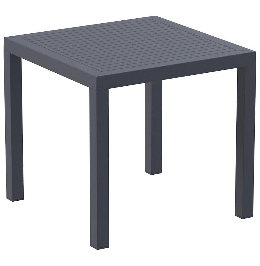 Table de jardin carrée en résine (matière plastique).