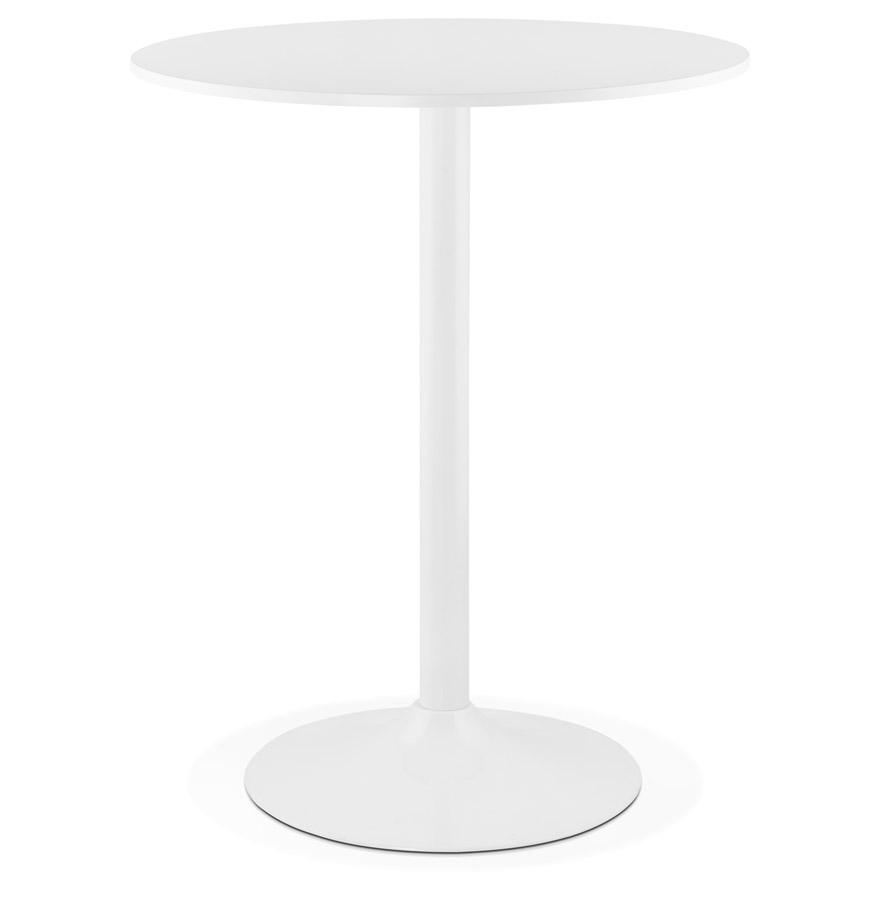 Mange-debout / table haute ´CARACAS´ blanche - Ø 90 cm