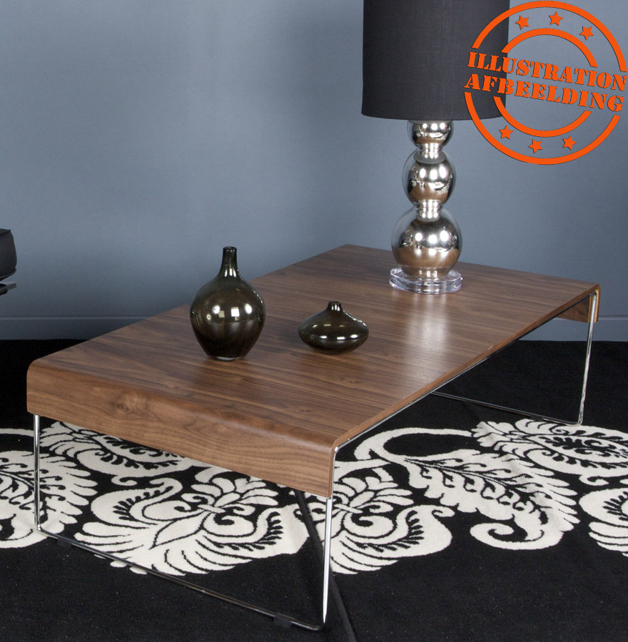 table basse design chik en bois finition noyer table basse de salon. Black Bedroom Furniture Sets. Home Design Ideas