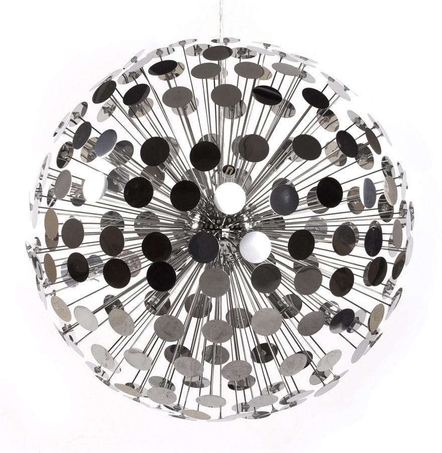 Suspension à facettes, diamètre de 65 cm.