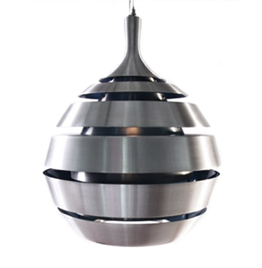 Suspension en aluminium brossé, intérieur en aluminium brossé.