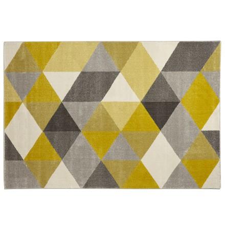 Tapis design 'GRAFIK' 160/230 cm avec motifs graphiques jaunes