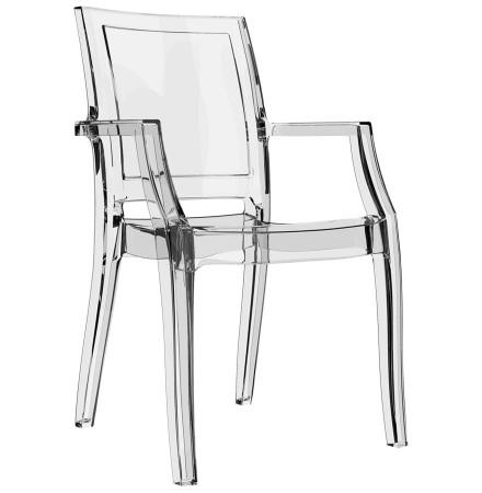 Chaise design 'NALA' transparente en matière plastique