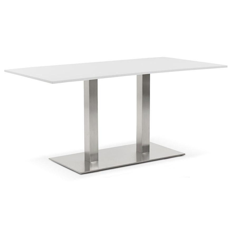Table / bureau design ´DENVER´ blanc - 160x80 cm
