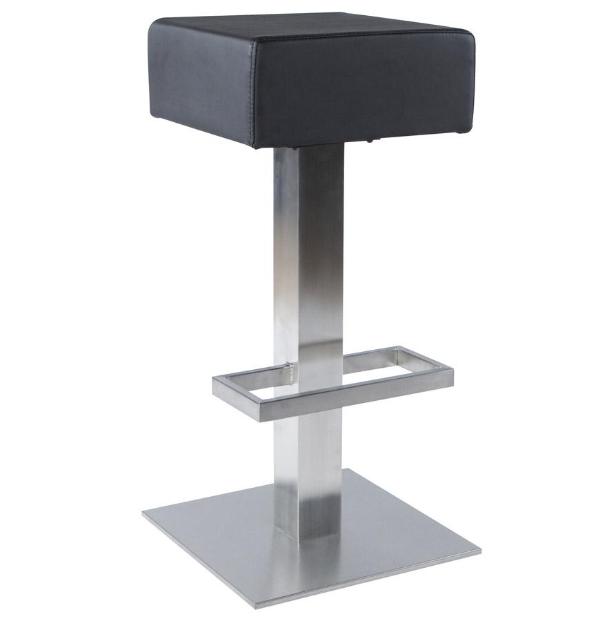 Tabouret fixe, assise pivotante à 360°.