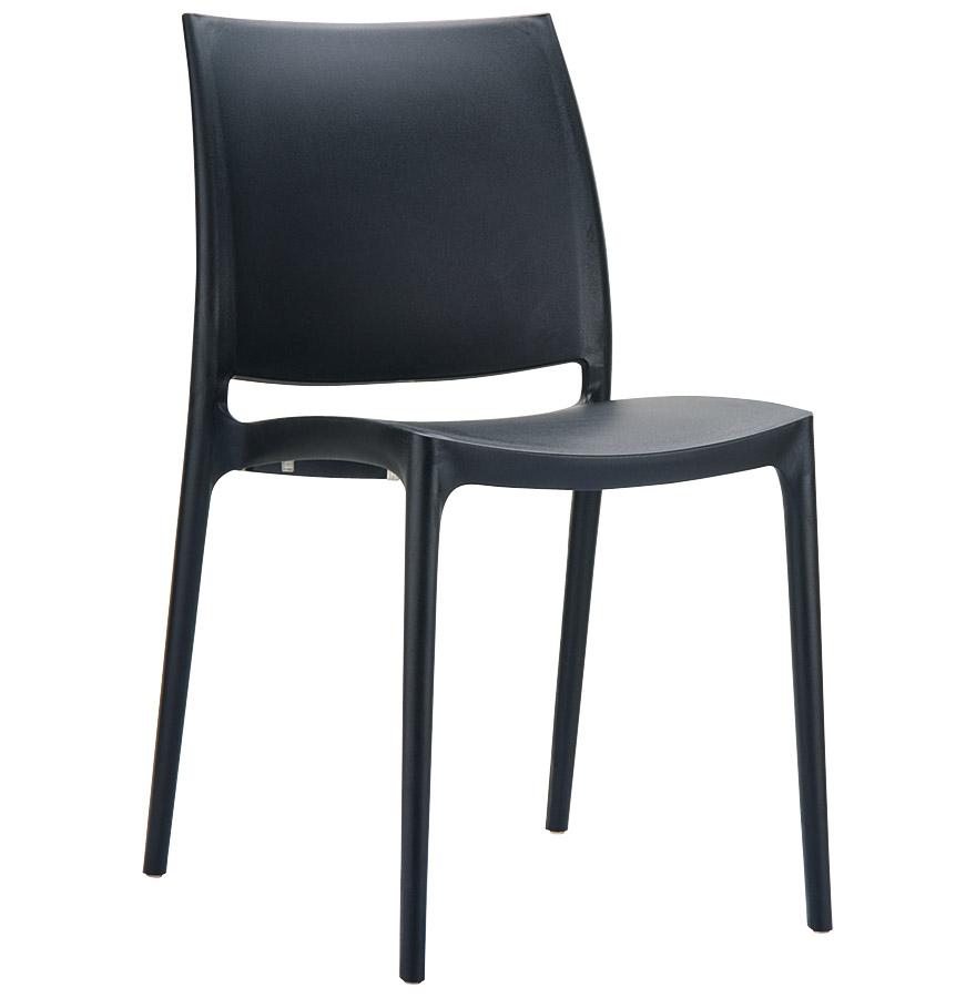 Chaise plastique noir tous les objets de d coration sur for Chaise design plastique