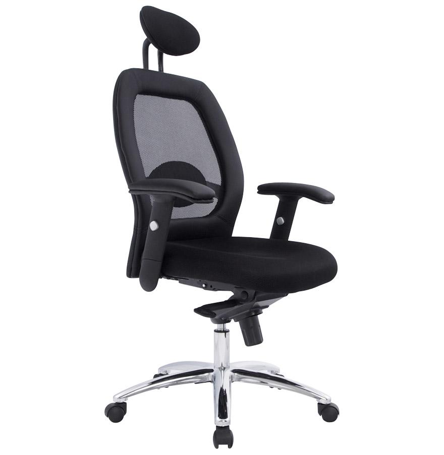 Fauteuil de bureau ´ERGO´ noir design ergonomique et fonctionnel