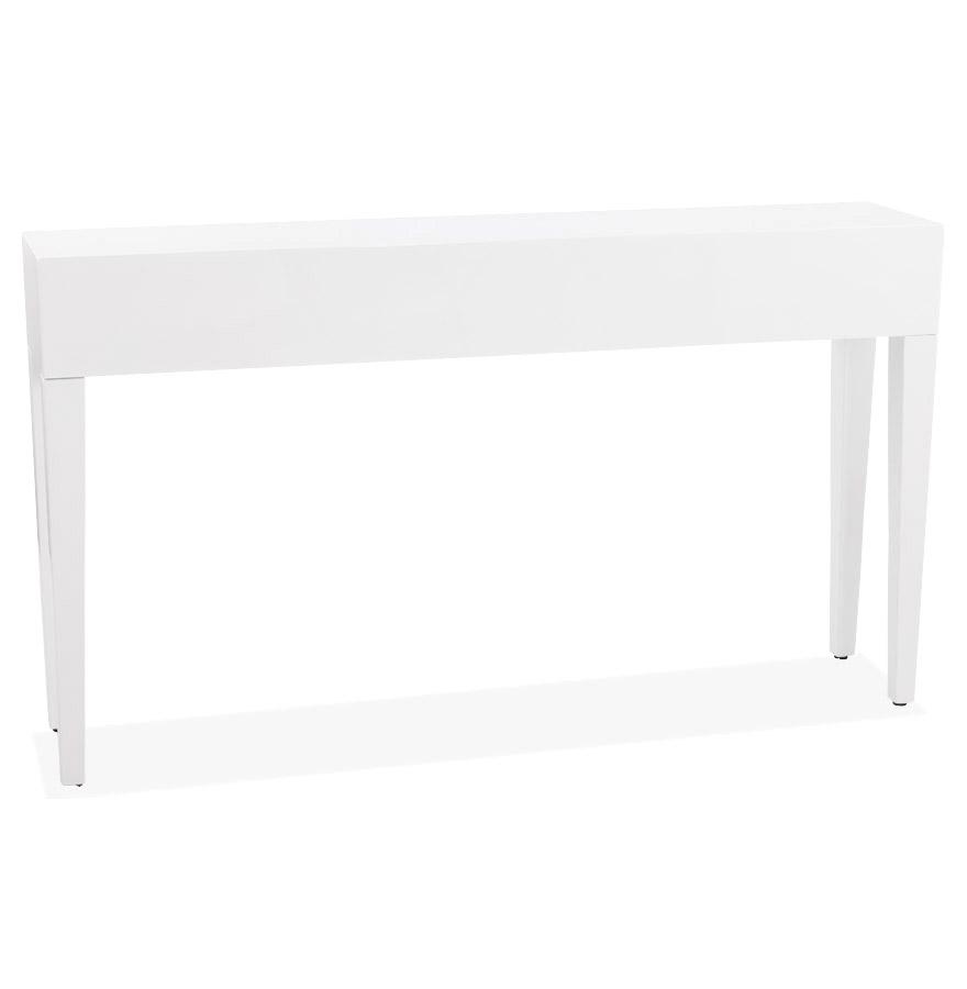 Table console en bois (MDF) recouvert de polyuréthane.