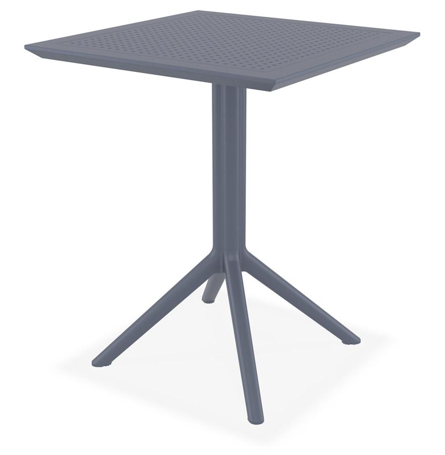 Intelligent Table De Terrasse Pliable 'foly' Carrée Grise Foncée - 60x60 Cm