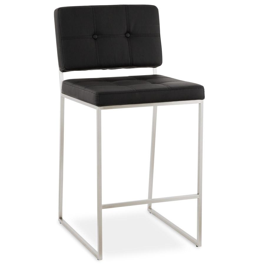 Tabouret snack mi-hauteur ´GASTON´ noir capitonné   Boutique Design ... 99d78a91aa87