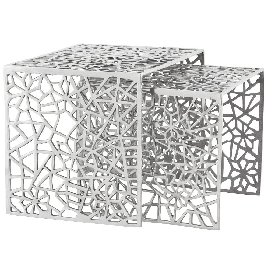 Table d'appoint en aluminium, production artisanale.