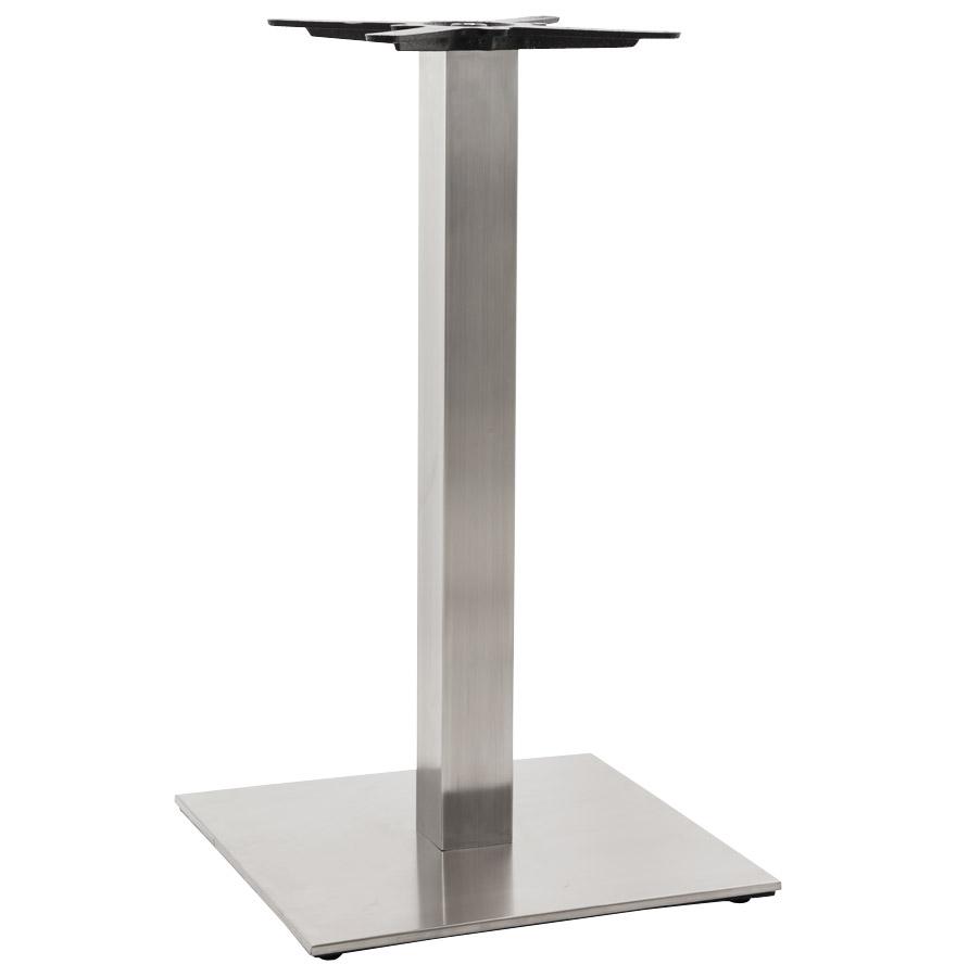 Pied de table ´KARO´ 90 en acier brossé