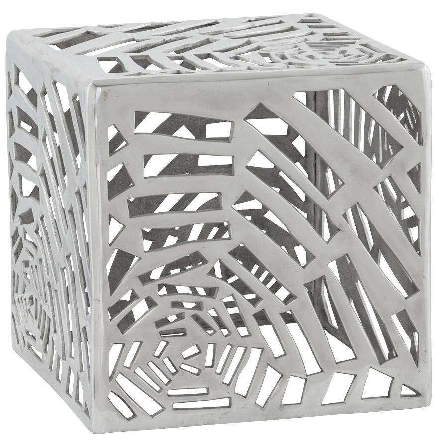 Table d'appoint en aluminium, production artisanale.