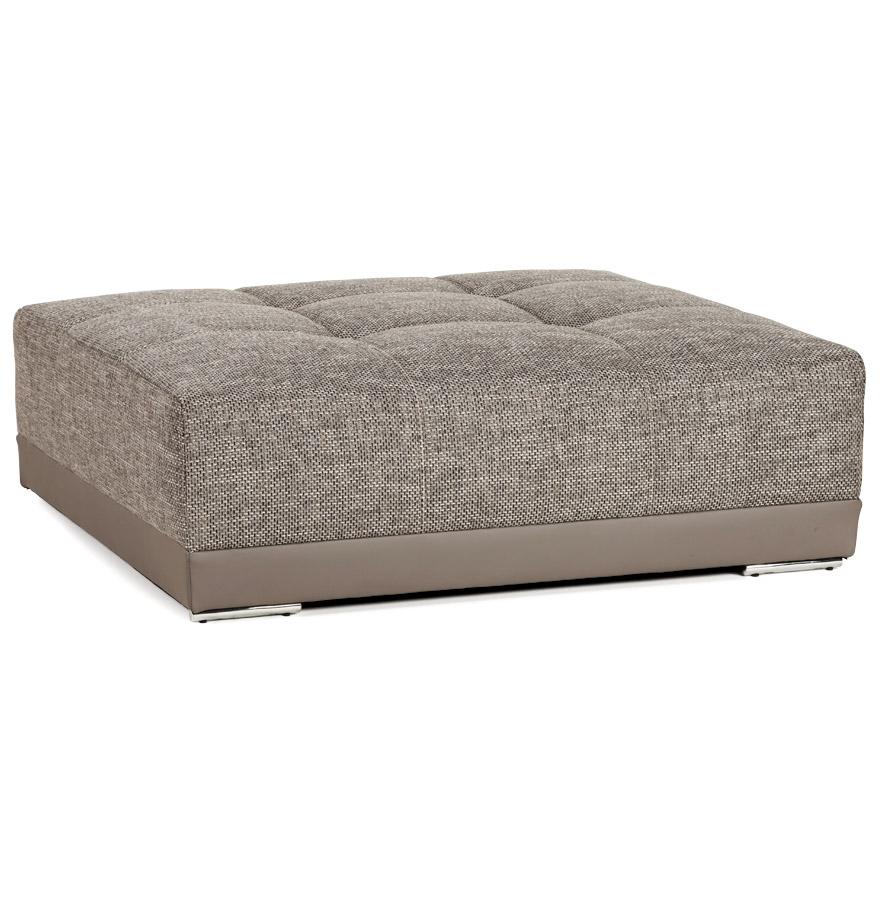 Pouf de canapé en tissu chenille et similicuir complémentaire au canapé BYOUTY.