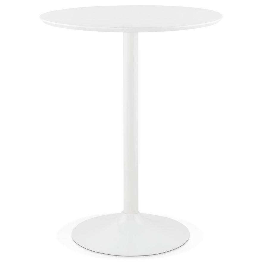 Mange-debout / table haute ´MADISON´ blanche - Ø 90 cm
