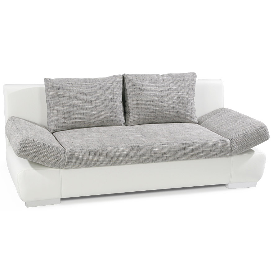 Fonction canapé-lit, accoudoirs relevables.