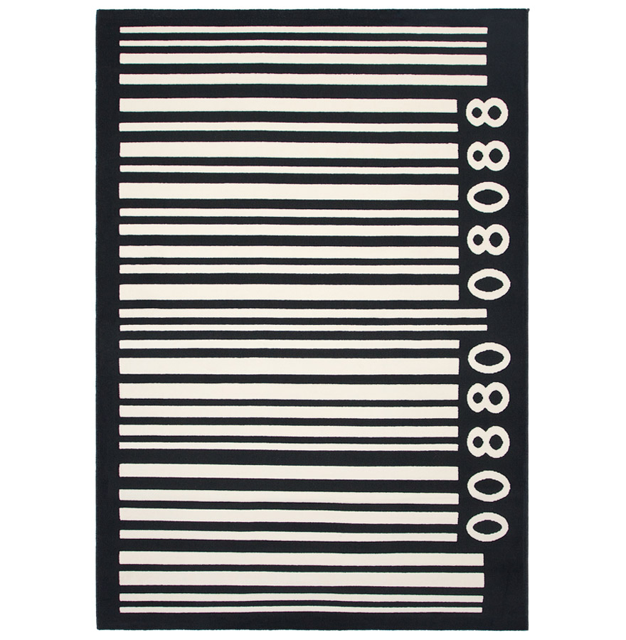 tapis design 39 moka 39 160 230 cm poils courts code barre ebay. Black Bedroom Furniture Sets. Home Design Ideas