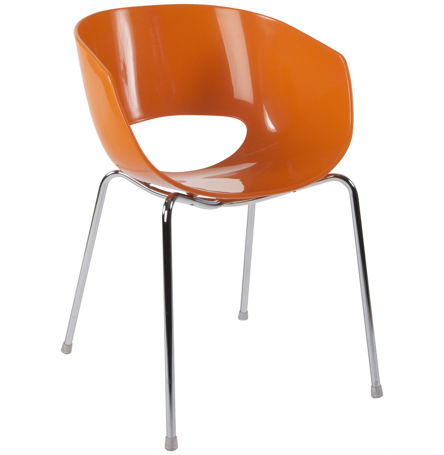 Chaise design plastique orange tous les objets de for Chaise design plastique