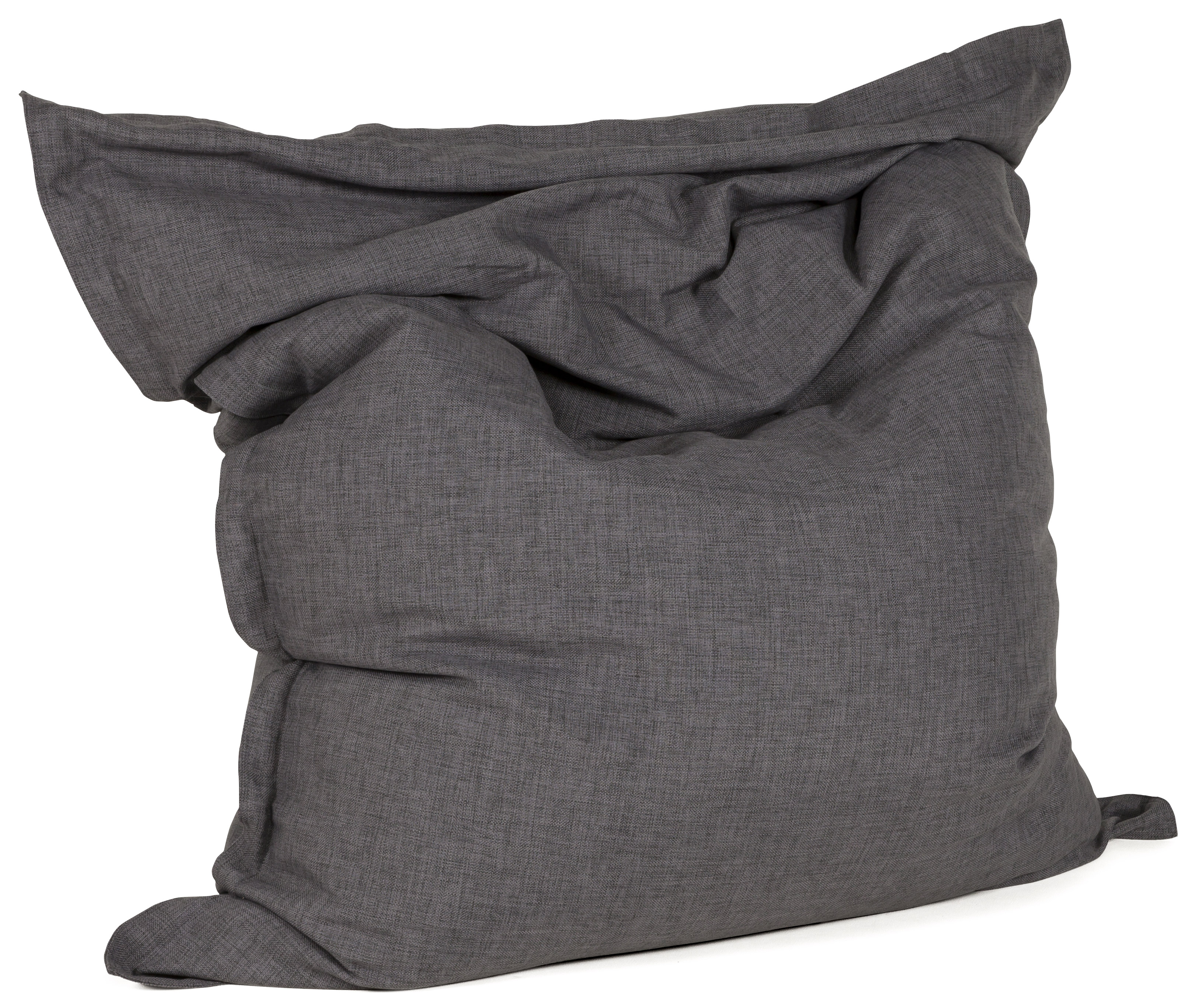 Pouf géant design en tissu chenille déhoussable.