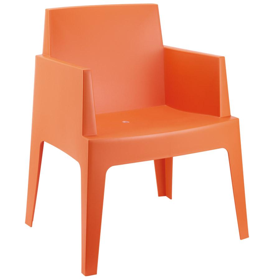 Chaise design plemo orange en matière plastique