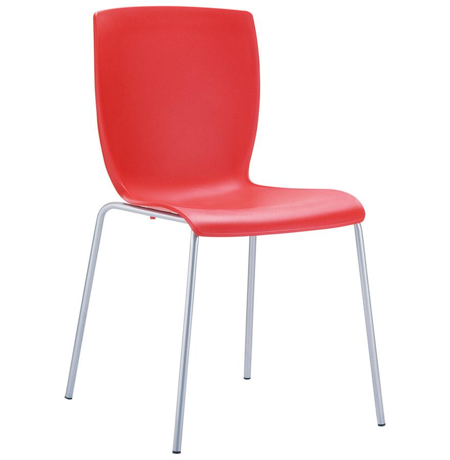 Chaise moderne de cuisine empilable composée de polypropylène.