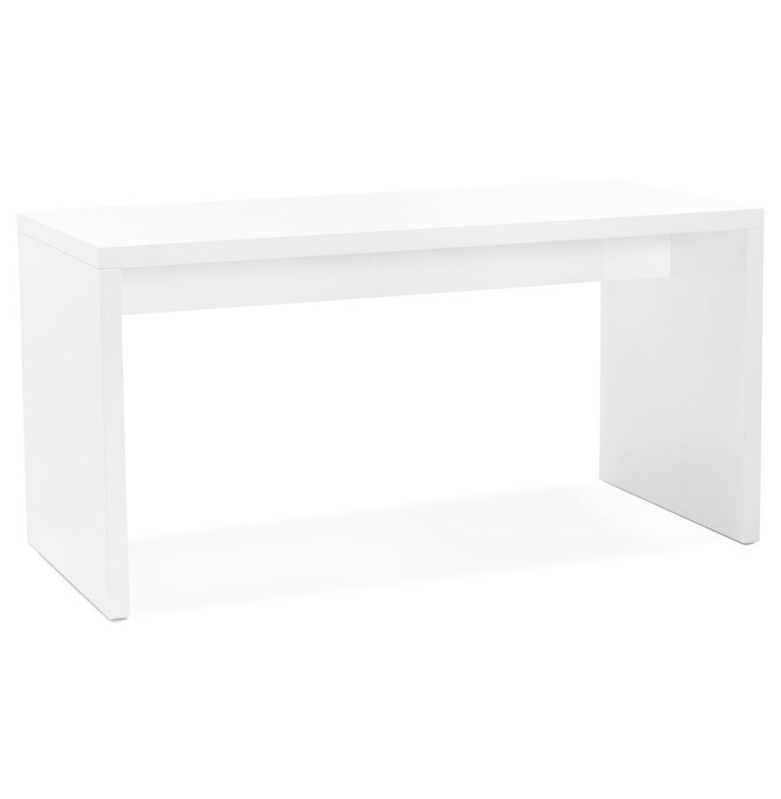 Bureau droit design ´POLAR´ en bois peint blanc - 150x70 cm