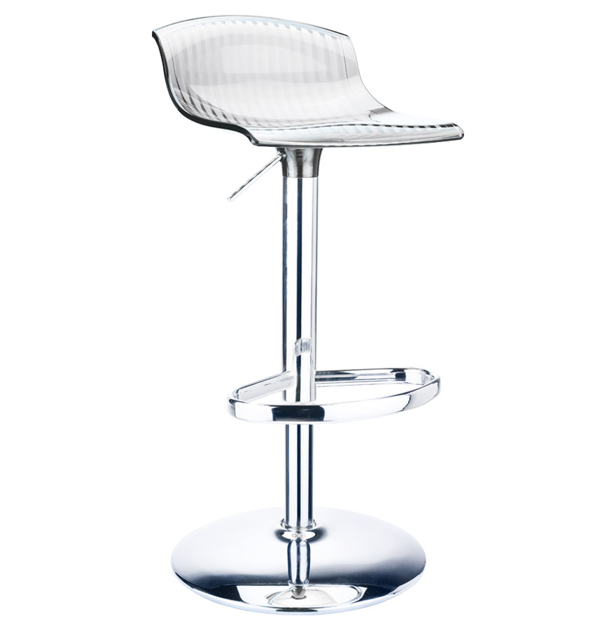 Tabouret de bar en plastique transparent - Tabouret bar plastique ...