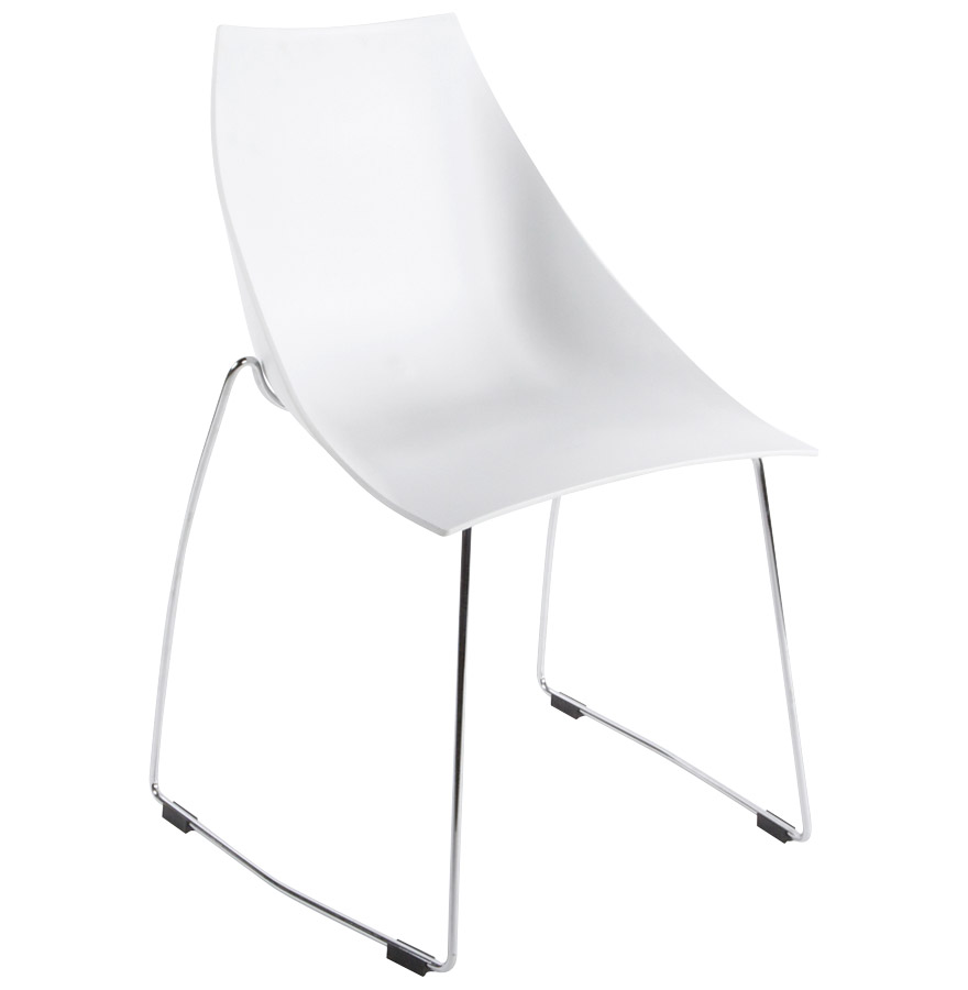Chaise empilable blanc tous les objets de d coration sur - Chaise coque blanche ...