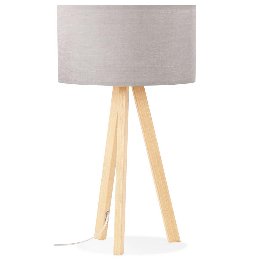 Lampe à poser trepied ´SPRING MINI´ avec abat-jour gris style scandinave