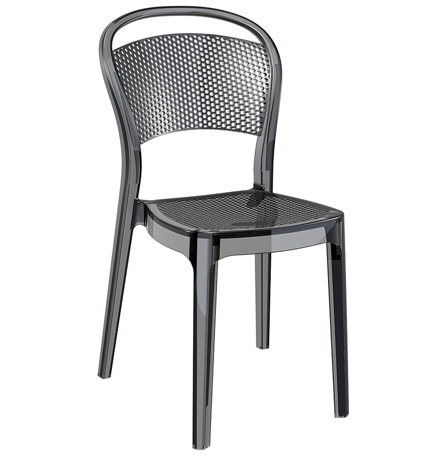Chaise design empilable et utilisable à l'extérieur.
