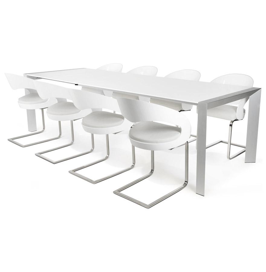 Table extensible aluminium bross tous les objets de for Table extensible 3 metres
