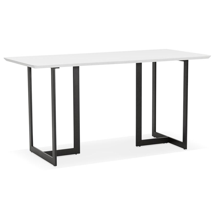 Table à diner / bureau design ´TITUS´ en bois blanc - 150x70 cm