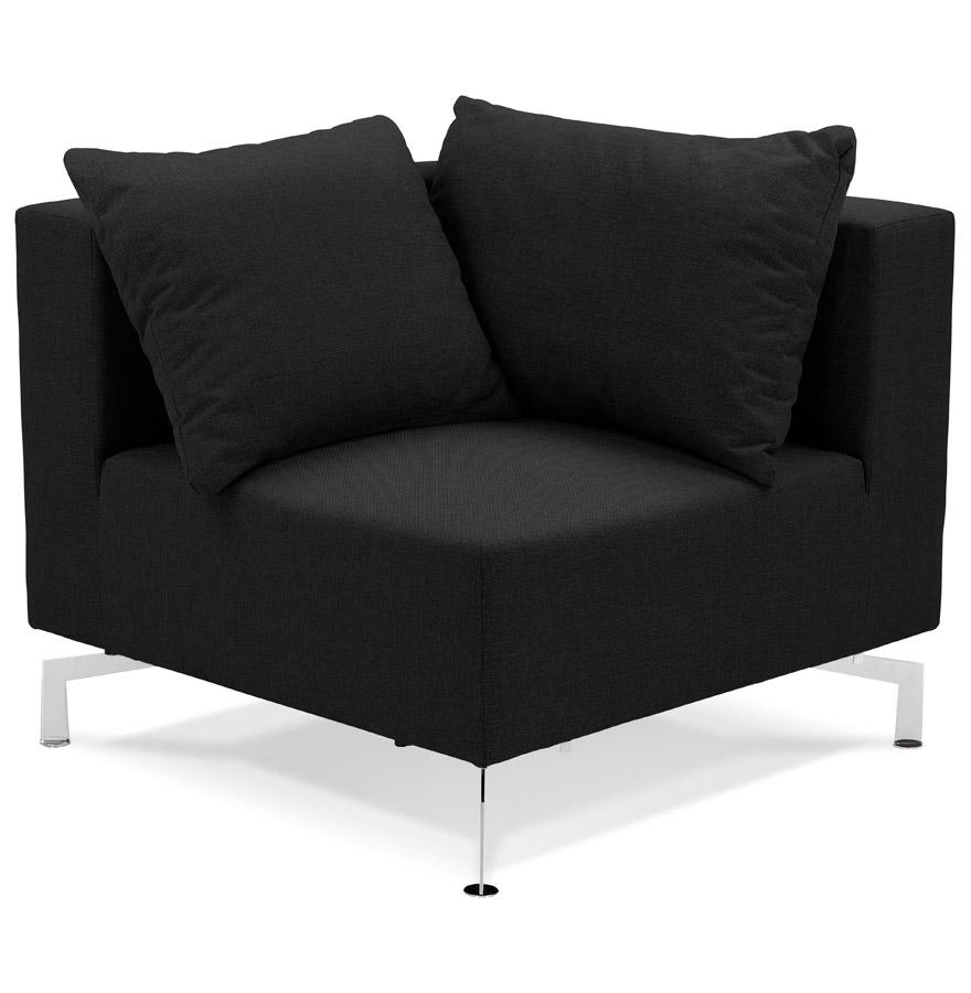 Élément de canapé modulable ´VOLTAIRE CORNER´ noir - coin de canapé