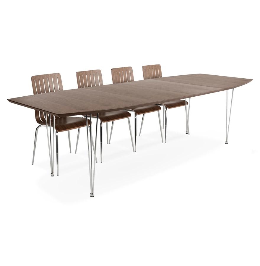 Balancelle Jardin Vintage _ Table?d?ner extensible?TITAN?design blanche – 190(270)x95 cm