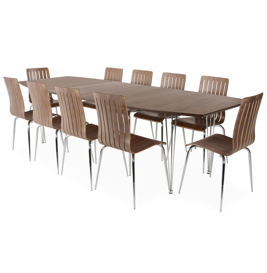 Table salle manger extensible habitat for Petite table a manger extensible