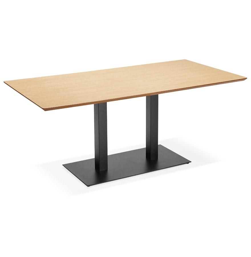 Table / bureau design ´ZUMBA´ en bois finition naturelle - 180x90 cm