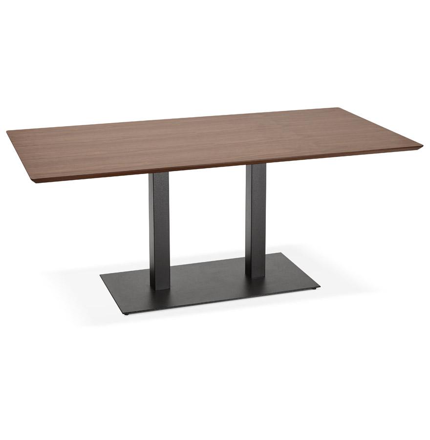 Table / bureau design ´ZUMBA´ en bois finition Noyer - 180x90 cm