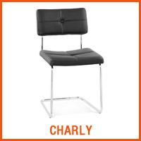 Chaise CHARLY noire - Nouveaute Alterego