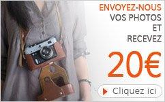 Recevez 20€ en envoyant vos photos - Alterego Design